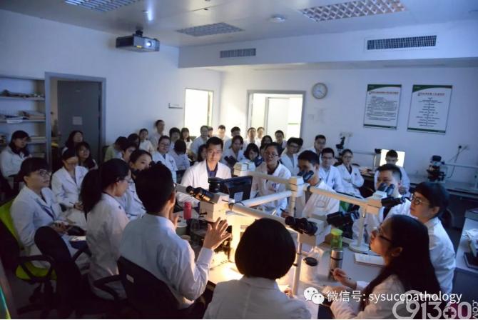 香港伊利沙伯医院病理顾问医生卓华教授来我中心病理科进行教学讲座