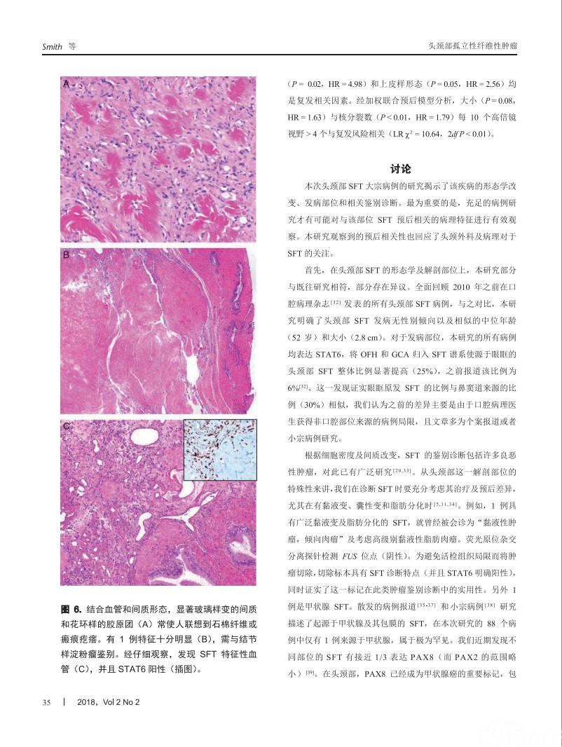 头颈部孤立性纤维性肿瘤多中心临床病理研究