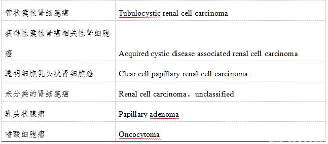 肾癌诊疗规范