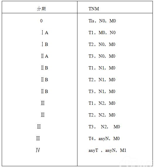 表1 胰腺癌TNM分期(AJCC,第8版)