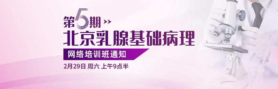 第5期北京乳腺基础病理网络培训班通知